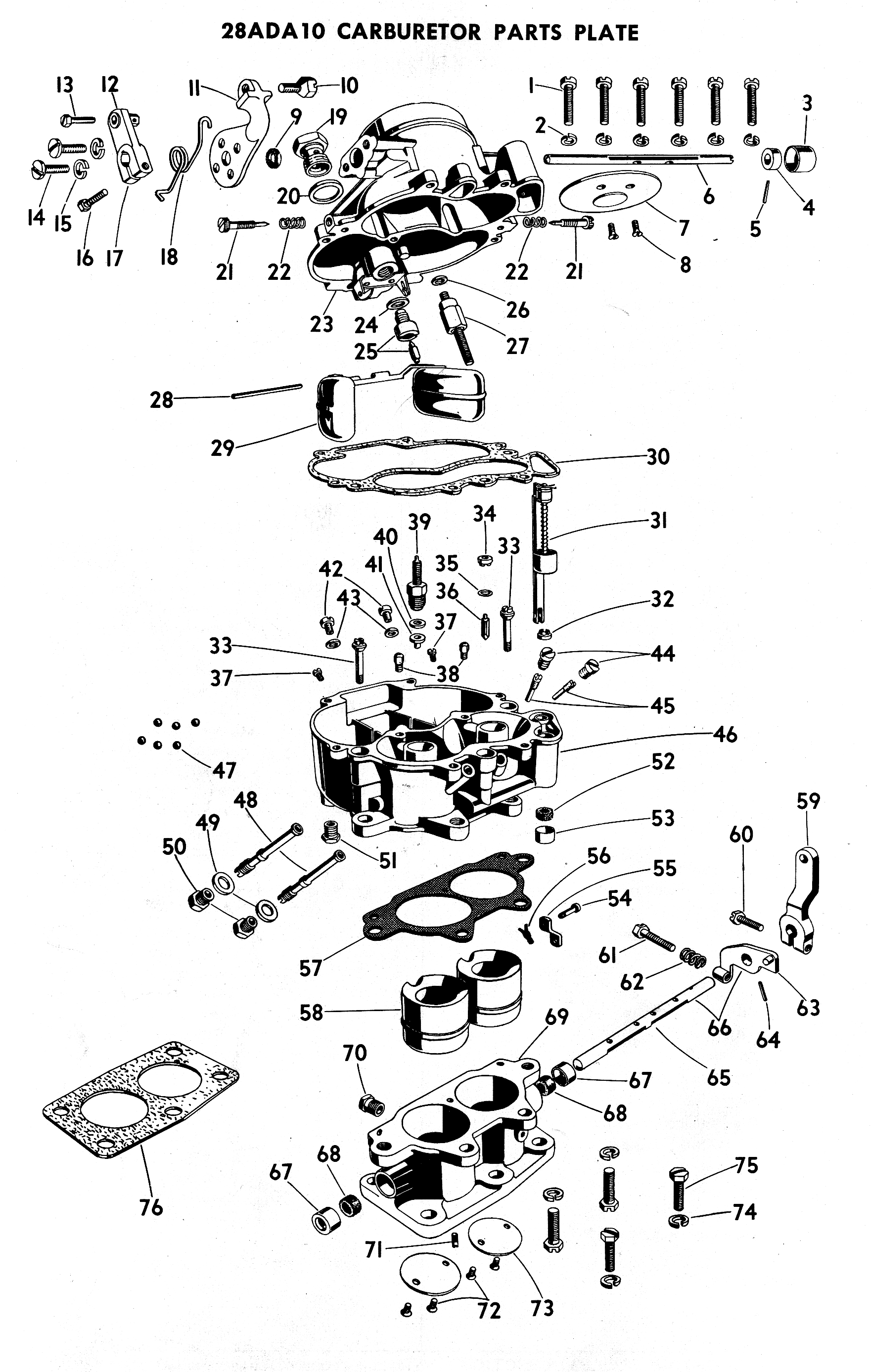 Zenith 13692 Carburetor Kit Float And Manual Parts Diagram On Model A 28ada Exploded View
