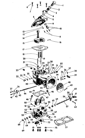 Zenith 29D Carburetor Exploded View