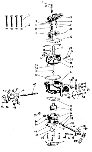 Zenith 29 Carburetor Exploded View