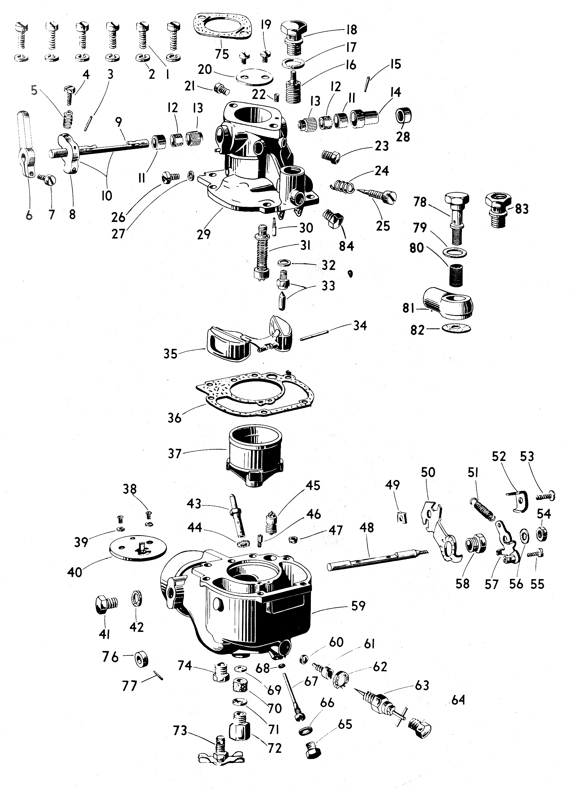 Zenith Type 63 exploded view
