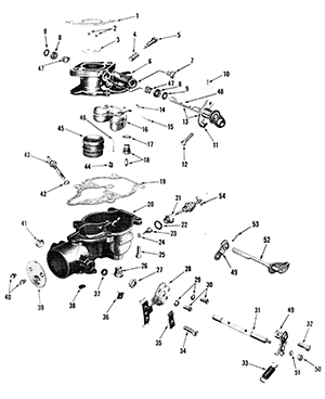 Zenith 68 Carburetor Exploded View