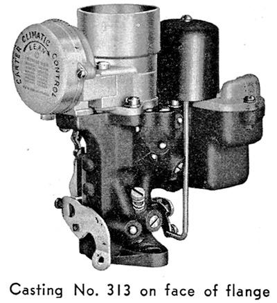 All American Ford Kingston >> CK4417 Carter W-1 Carburetor Kit