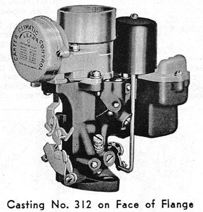 ck carter   carburetor kit  packard