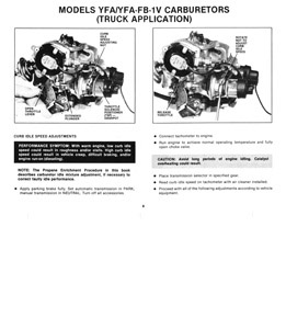 Carburetor service manual